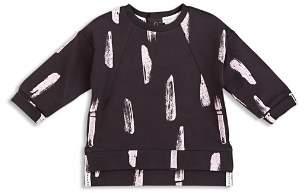 Miles Child Girls' Paint-Stroke French Terry Sweatshirt - Little Kid