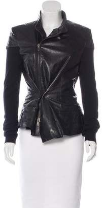 Haider Ackermann Structured Leather Jacket