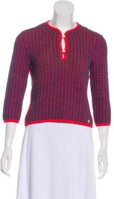 Chanel Crop Knit Top