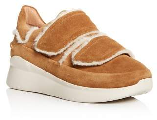 UGG Women's Ashby Round Toe Fur & Suede Sneaker