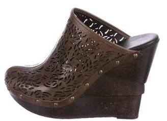 Diane von Furstenberg Leather Round-Toe Mules
