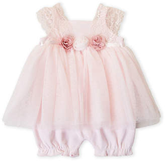 Baby Essentials Miniclasix (Newborn Girls) Pink Floral Skirted Romper