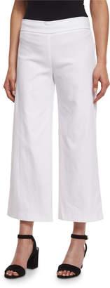 Avenue Montaigne Alex Wide-Leg Crop Pants, White