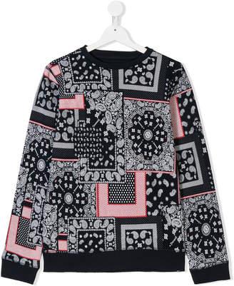 Tommy Hilfiger Junior TEEN paisley-print sweatshirt