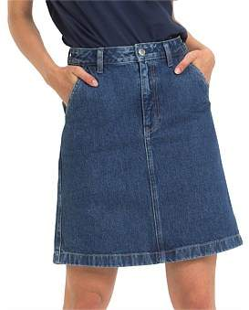 Tommy Hilfiger A Line Denim Skirt