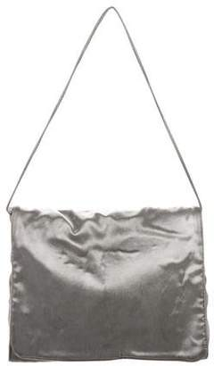Giorgio Armani Satin Flap Shoulder Bag