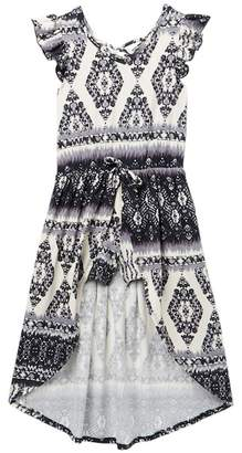 XOXO Ikat Walk-Thru Maxi Romper (Big Girls)