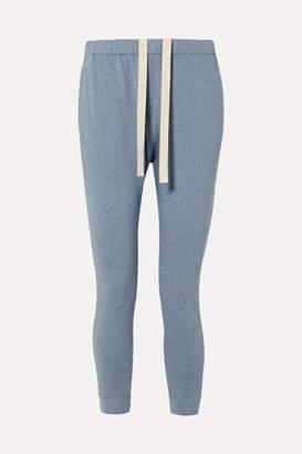 Bassike Net Sustain Organic Cotton-jersey Track Pants - Light blue