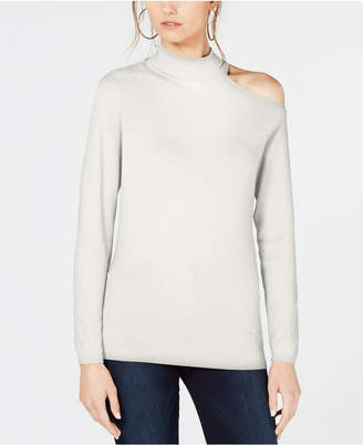 INC International Concepts I.n.c. One Shoulder Mock Turtleneck Sweater