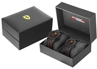 Ferrari Mens Red Rev Scuderia Two-Watch Gift Set