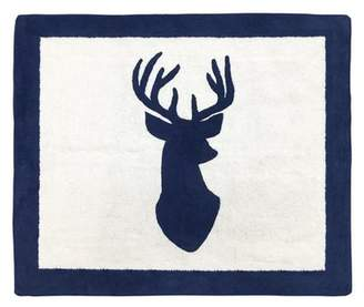 JoJo Designs Sweet Woodland Deer Hand-Tufted Navy/White Area Rug Sweet