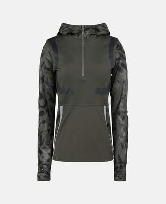Stella McCartney Dark Green Running Long-sleeve Hoodie, Women's