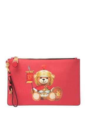 Moschino Eco Leather Teddy Bear Wrist Pouch