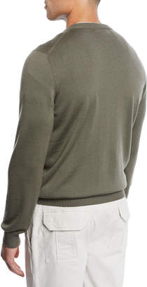 Brunello Cucinelli Men's Wool Crewneck Sweater