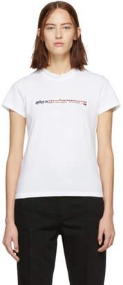 Alexander Wang White Logo T-Shirt