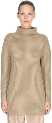 Salvatore Ferragamo Oversized Cashmere Rib Knit Sweater