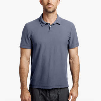 James Perse COTTON TWILL JERSEY POLO