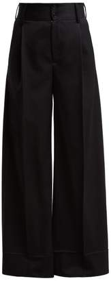 MM6 MAISON MARGIELA Wide Leg Trousers - Womens - Black