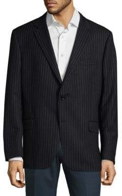 Hickey Freeman Pinstripe Wool Jacket