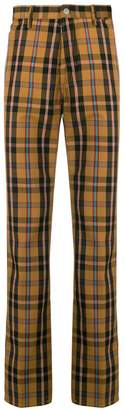 Maison Margiela checked print trousers
