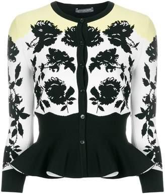 Alexander McQueen floral print peplum cardigan