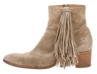 Christian Louboutin Fringe-Trimmed Ankle Boots