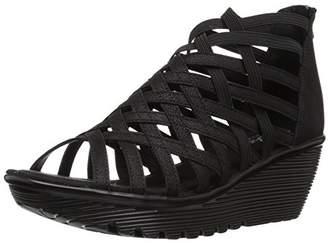 Skechers Women's Parallel-Dream Queen-Caged Open Toe Wedge Sandal