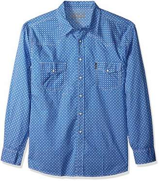 Cinch Men's Modern Fit Long Sleeve Snap Two Flap Pocket Print Shirt