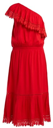 Melissa Odabash Jo One Shoulder Midi Dress - Womens - Red