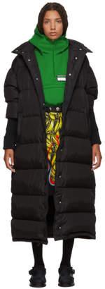 Prada Black Long Buttons Down Jacket