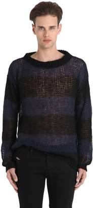 Faith Connexion Striped Mohair Sweater