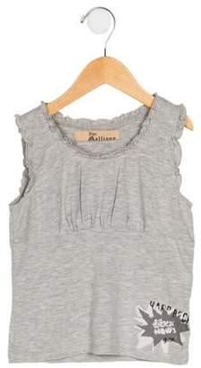 John Galliano Girls' Printed Sleeveless Top