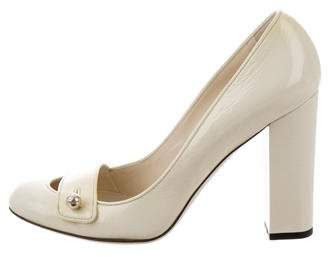 Gucci Round-Toe Mary Jane Pumps