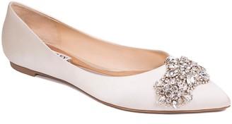 Badgley Mischka Collection Eavan Crystal Embellished Pointed Toe Flat