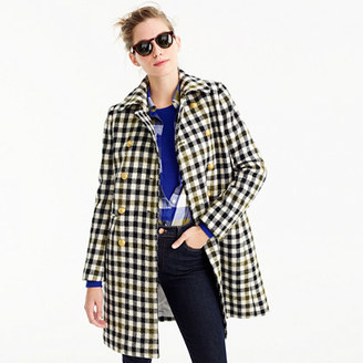 Double-breasted coat in oxford check $378 thestylecure.com