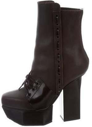 Acne Studios Leather Platform Boots