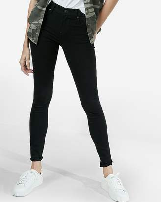 Express Mid Rise Black Stretch Jean Leggings