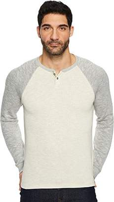 Lucky Brand Men's Long Sleeve Colorblock French Rib Button Notch Shirt