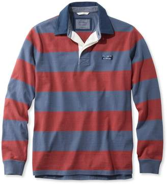 L.L. Bean L.L.Bean Lakewashed Rugby, Traditional Fit Long-Sleeve Stripe