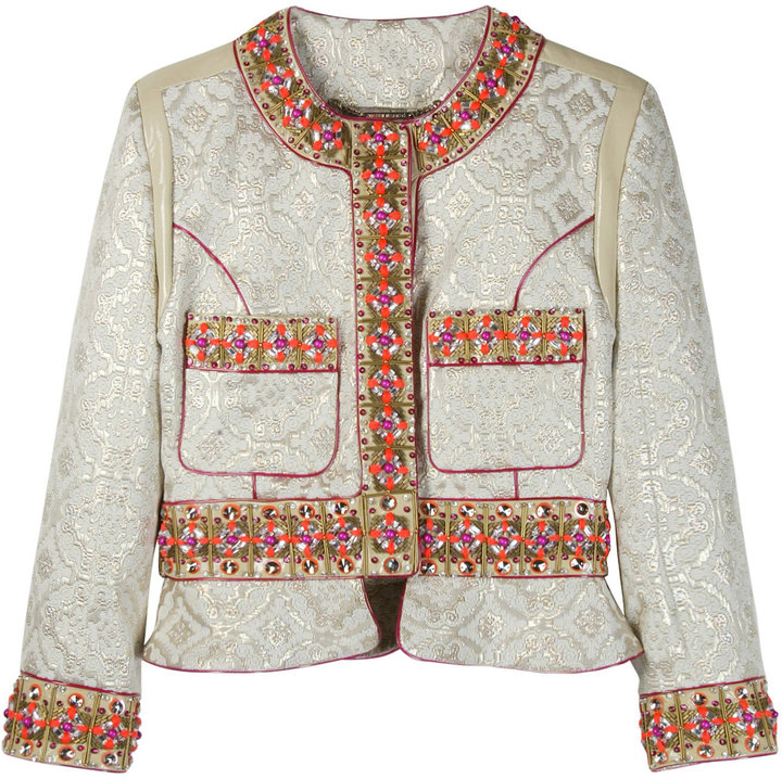Matthew Williamson Jewelled Brocade Short Jacket