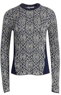Chloé Metallic Jacquard Knit Sweater