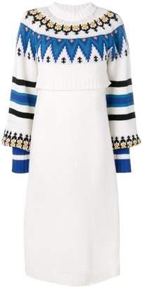 MSGM layered sweater dress