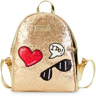 Love Moschino Glitters Metallic Backpack