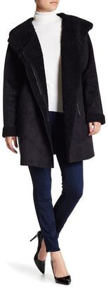 Rachel Roy Faux Shearling Collar Coat $250 thestylecure.com