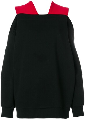 Ioana Ciolacu cutout shoulder sweatshirt