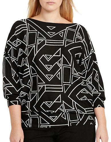 Lauren Ralph LaurenLauren Ralph Lauren Plus Geometric-Printed Bateau-Neckline Top