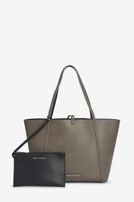 Armani Exchange Womens Nude Reversible Shopper Bag - Nude