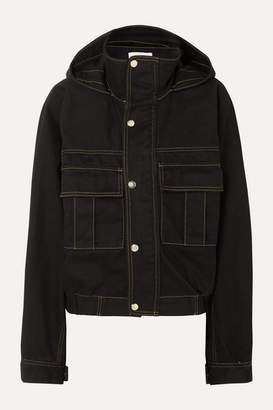 Matthew Adams Dolan - Hooded Denim Jacket - Black