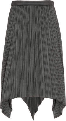 Acne Studios Ilisie High-Waisted Pleated And Striped Wool-Blend Mini S