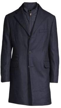 Corneliani Textured Wool Topcoat